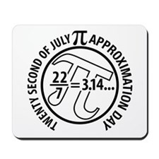 Pi Approximation Day, 22/7 Mousepad