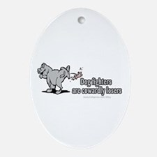 Cowardly Dog Fighters Oval Ornament