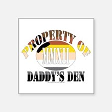 "Daddy's Den Square Sticker 3"" x 3"""