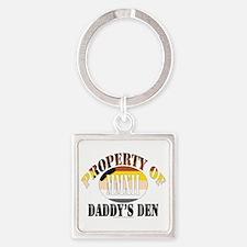 Daddy's Den Square Keychain
