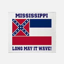 Mississippi State Flag Throw Blanket