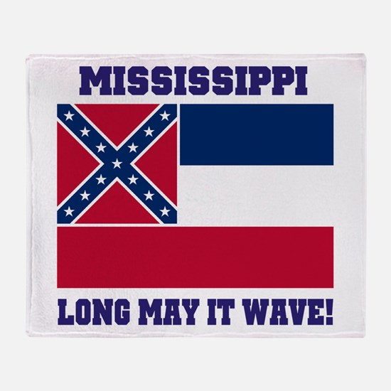 Mississippi State Flag Throw Blanket