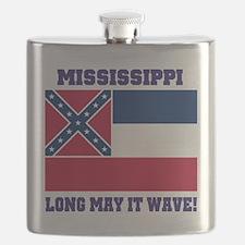 Mississippi State Flag Flask
