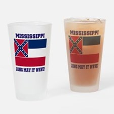 Mississippi State Flag Drinking Glass