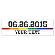 Personalized 06.26.2015 Bumper Car Sticker