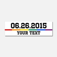 Personalized 06.26.2015 Car Magnet 10 x 3