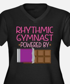 Rhythmic Gym Women's Plus Size V-Neck Dark T-Shirt
