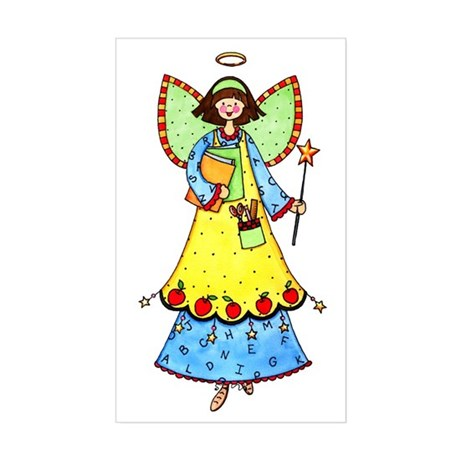 Education Angel Rectangle Sticker