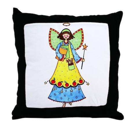 Education Angel Throw Pillow