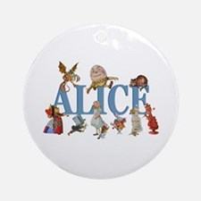 Alice in Wonderland and Friends Ornament (Round)