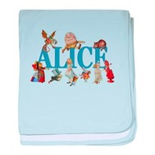 Alice in Wonderland and Friends baby blanket