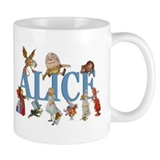 Alice in Wonderland and Friends Small Mugs