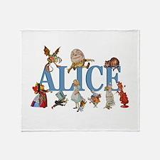 Alice in Wonderland and Friends Throw Blanket