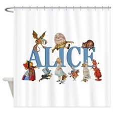 Alice in Wonderland and Friends Shower Curtain