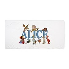 Alice in Wonderland and Friends Beach Towel