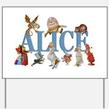Alice in Wonderland and Friends Yard Sign