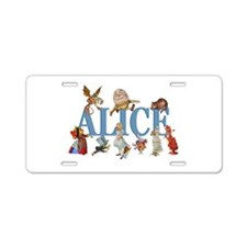 Alice in Wonderland and Fri Aluminum License Plate