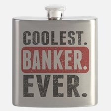 Coolest. Banker. Ever. Flask