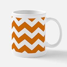 Burnt Orange Chevron Pattern Mugs