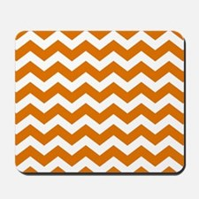 Burnt Orange Chevron Pattern Mousepad