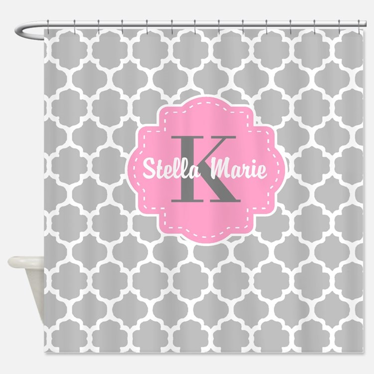 Grey And Pink Shower Curtains Grey And Pink Fabric Shower Curtain Liner