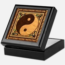 Harvest Moons Marquetry Yin Yang Keepsake Box