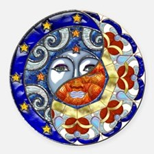 Harvest Moons Sun & Moon Yin Yang Round Car Magnet
