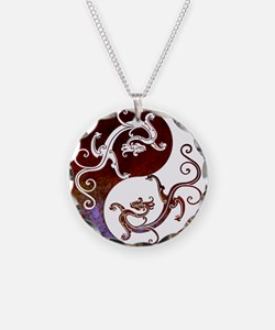 Harvest Moons Yin Yang Dragons Necklace