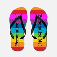 Rainbow Stripes Flip Flops
