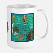 Peacocks Large Mug Mugs