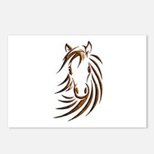Brown Horse Head Postcards (Package of 8)