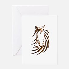 Brown Horse Head Greeting Cards
