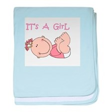 It's A Girl baby blanket