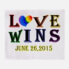 #lovewins Throw Blanket