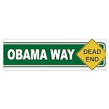 Obama Way Dead End Bumper Sticker