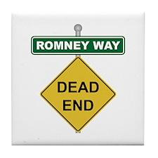 Romney Way Dead End Tile Coaster