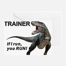 Velociraptor Trainer Greeting Card