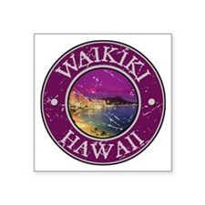 "Cute Beach maui Square Sticker 3"" x 3"""