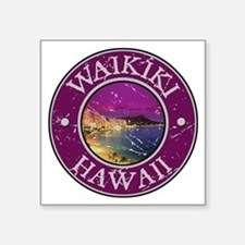 "Unique Oahu Square Sticker 3"" x 3"""