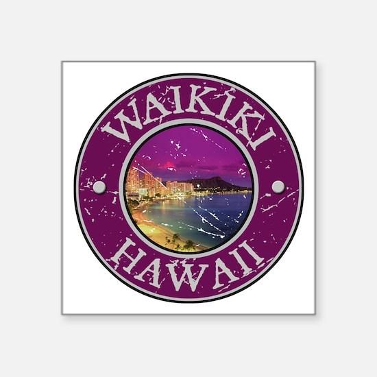 """Unique Hawaiian maui Square Sticker 3"""" x 3"""""""