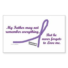 Never Forgets To Love (Father) Sticker (Rectangula