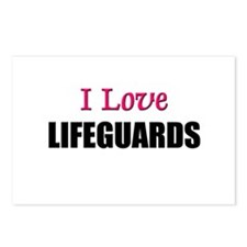 I Love LIFEGUARDS Postcards (Package of 8)