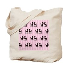 Pink Poodles And Diamonds Tote Bag