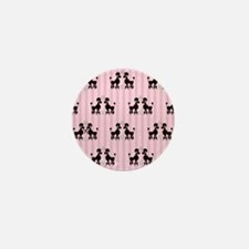Pink Poodles And Diamonds Mini Button