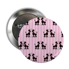 "Pink Poodles And Diamonds 2.25"" Button"