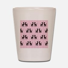 Pink Poodles And Diamonds Shot Glass
