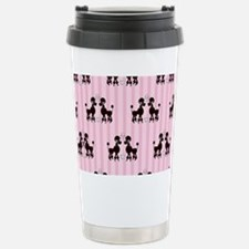 Pink Poodles And Diamon Travel Mug
