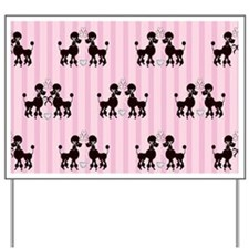 Pink Poodles And Diamonds Yard Sign