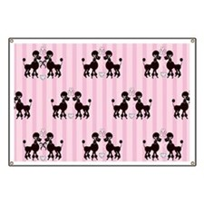 Pink Poodles And Diamonds Banner