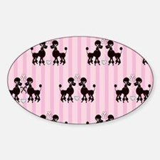 Pink Poodles And Diamond Decal